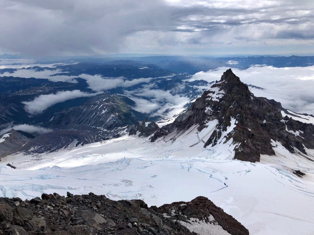 Looking down from Mt. Rainier.