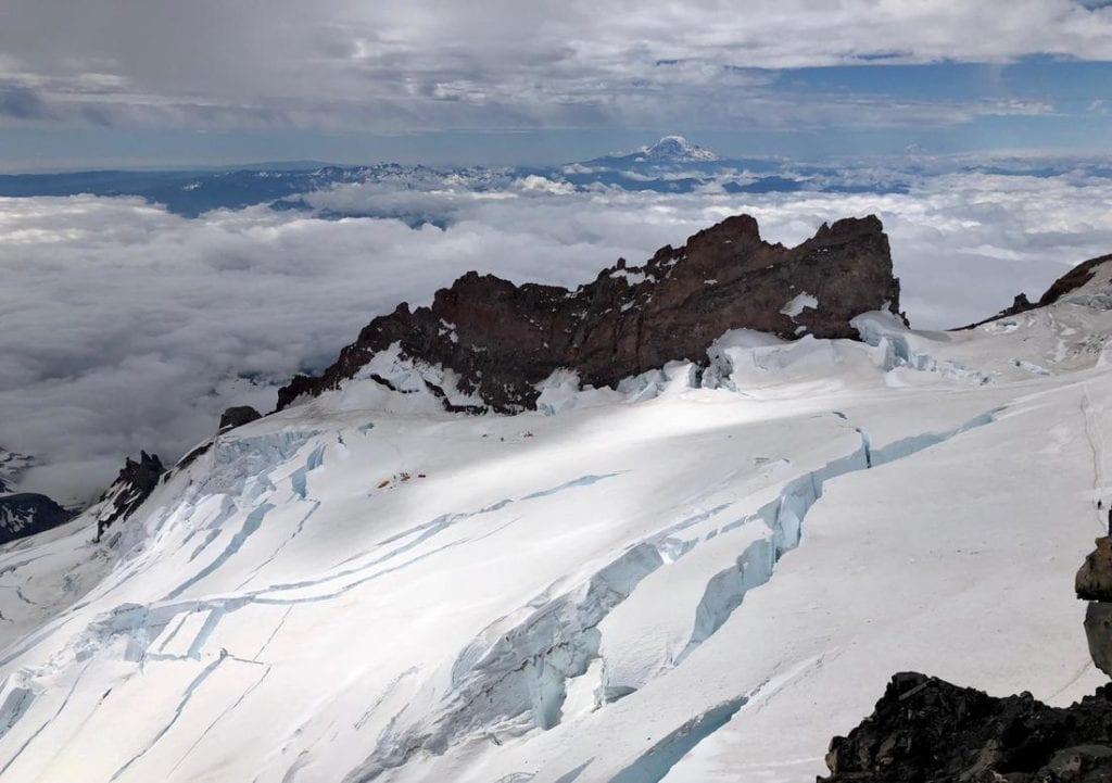 Glacier atop Mt. Rainier.