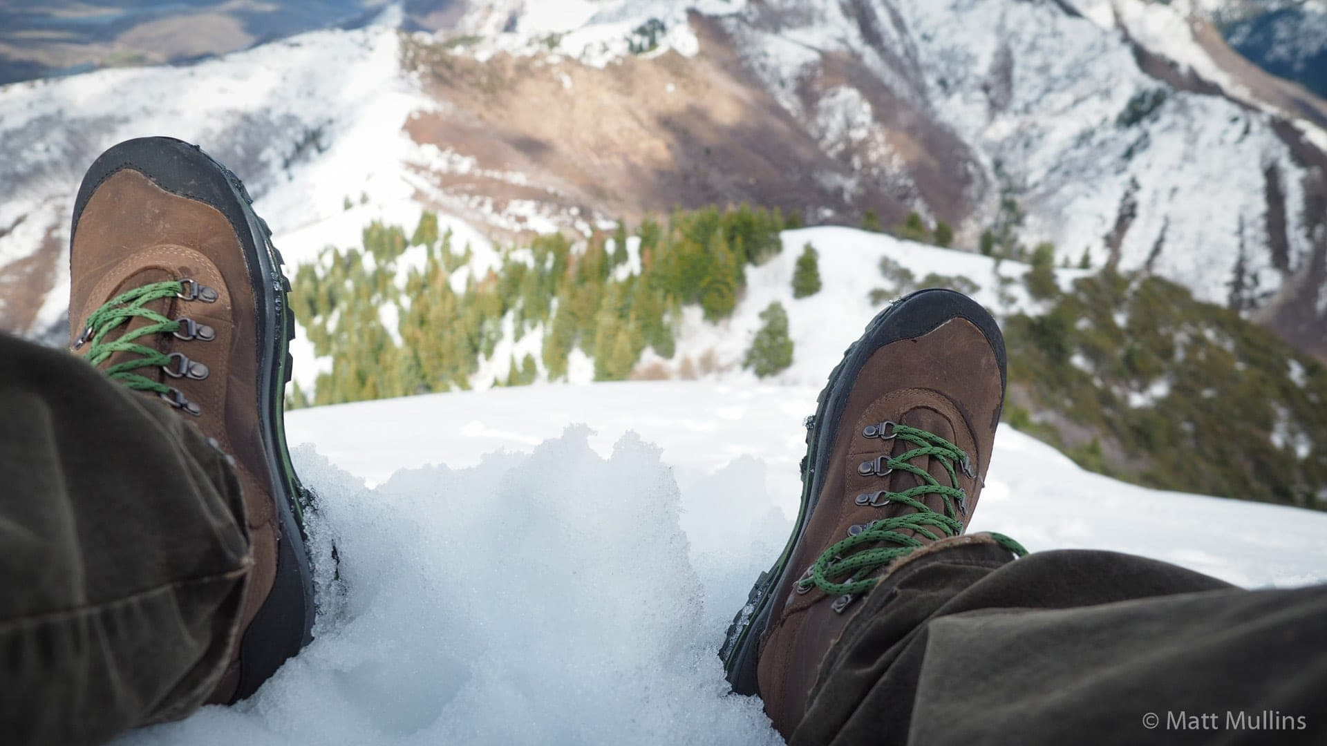 Author's Danner Crag Rat USA Boots in the Wasatch Mountains