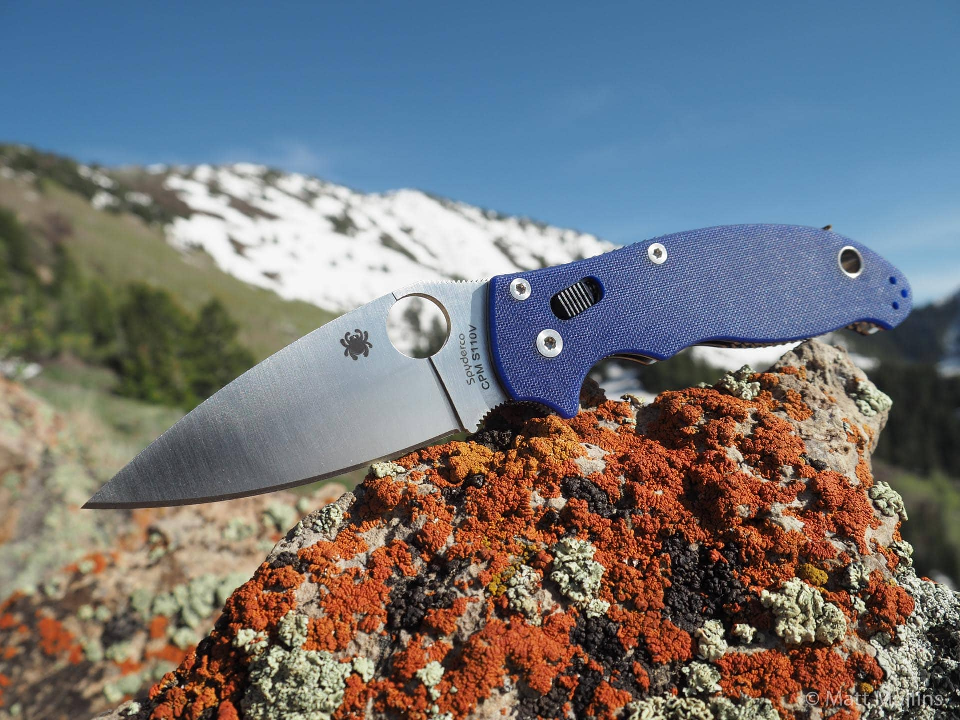 Spyderco Manix 2 Knife in the Wasatch Mtns