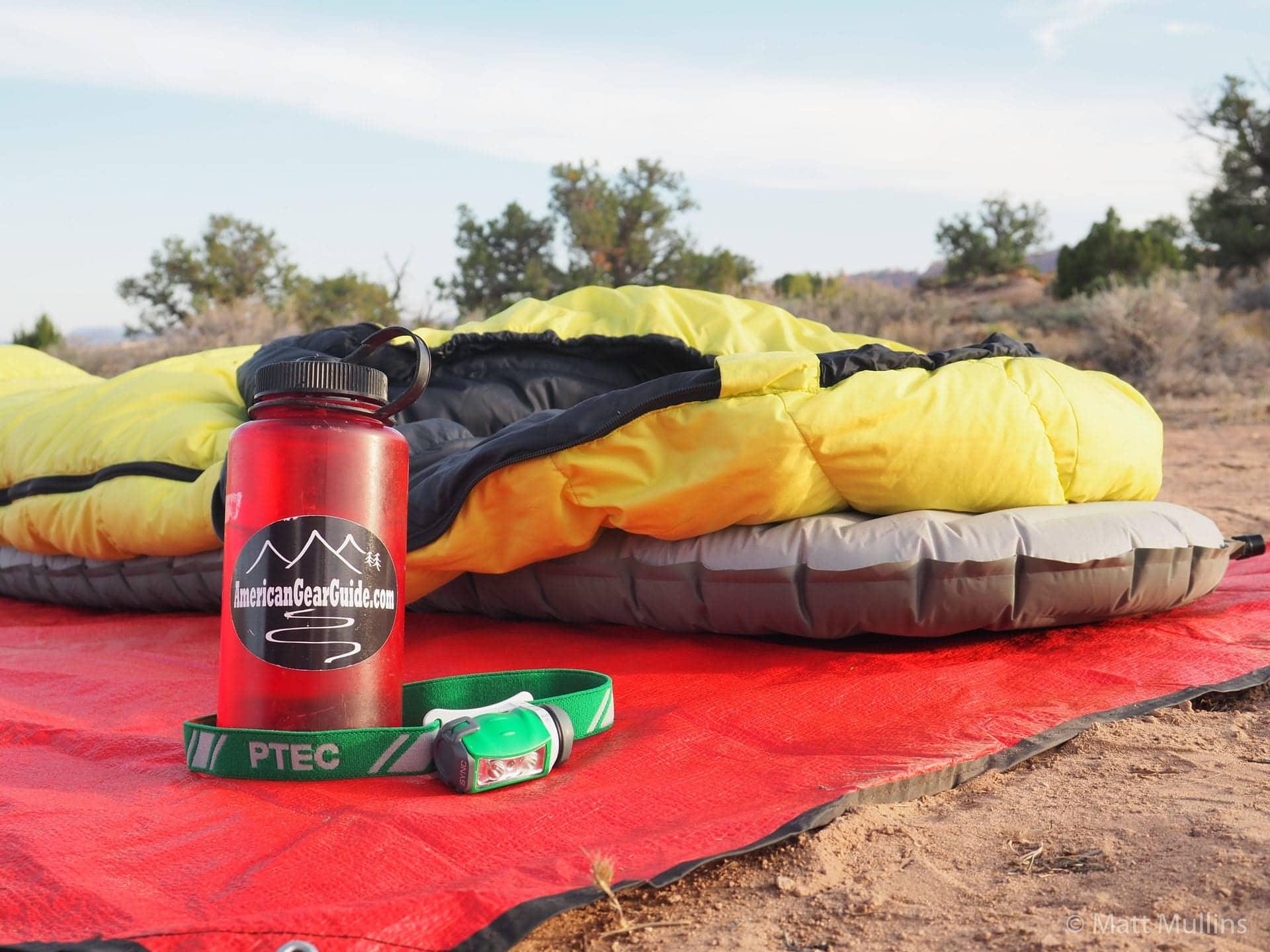 XTherm Sleeping Pad in the desert