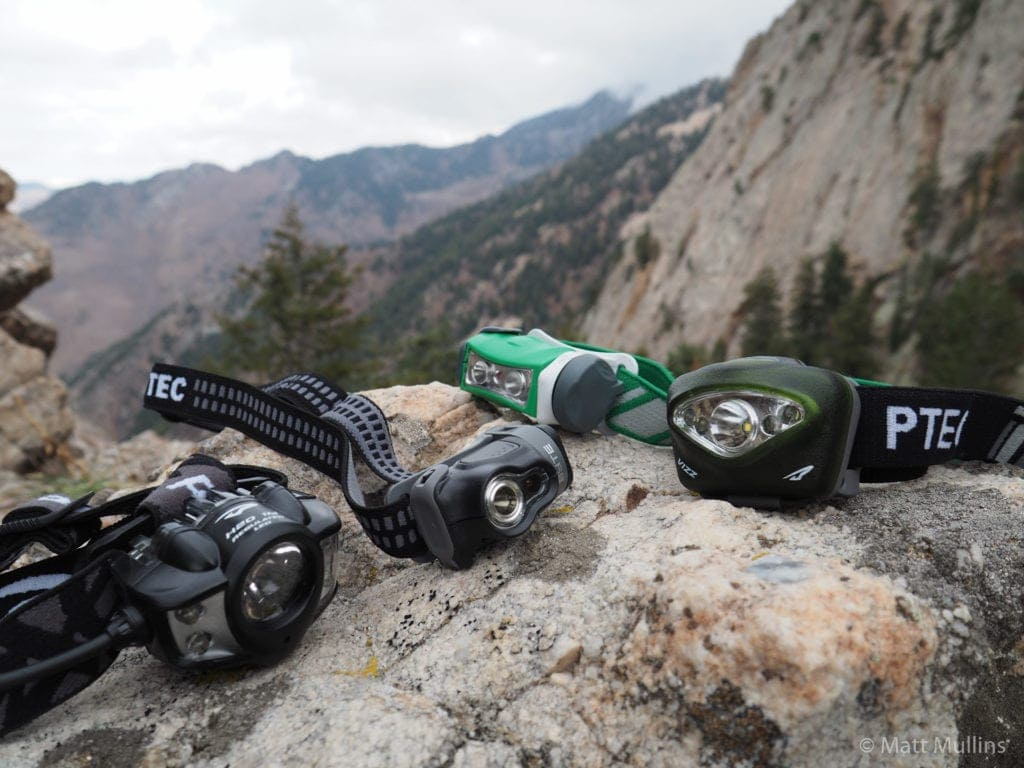 Some of the reviewed headlamps.