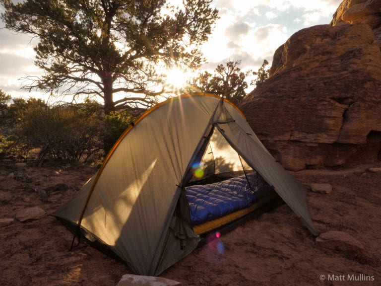 My Western Mountaineering Ultralite Sleeping Bag in the desert