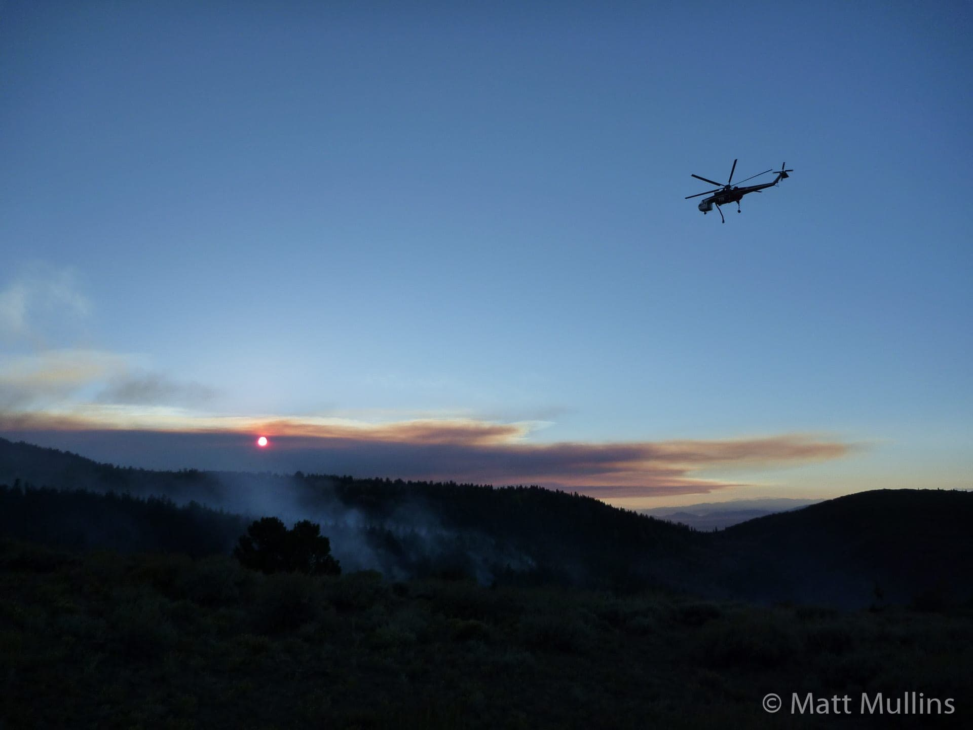 Nightfall over the Twitchell Fire