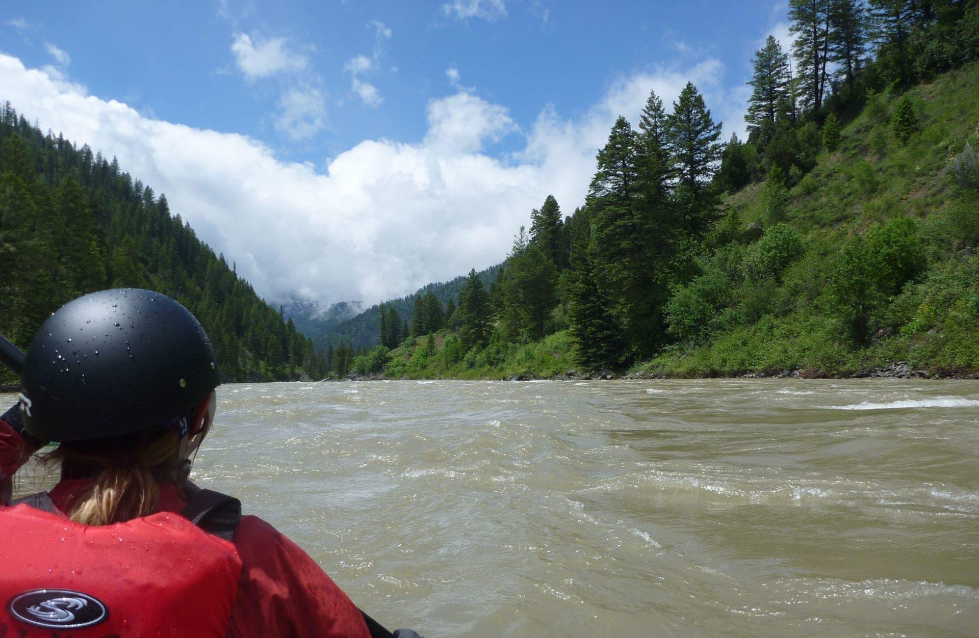 Kayaking the Snake River near Jackson Hole