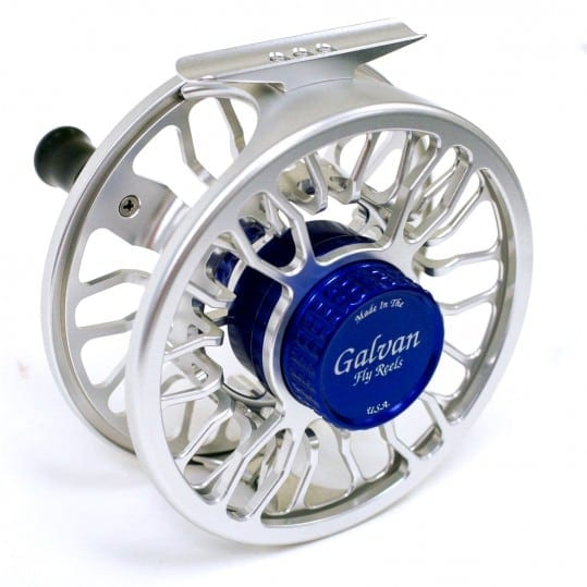 Galvan Fly Reel Grip Clear Blue Back