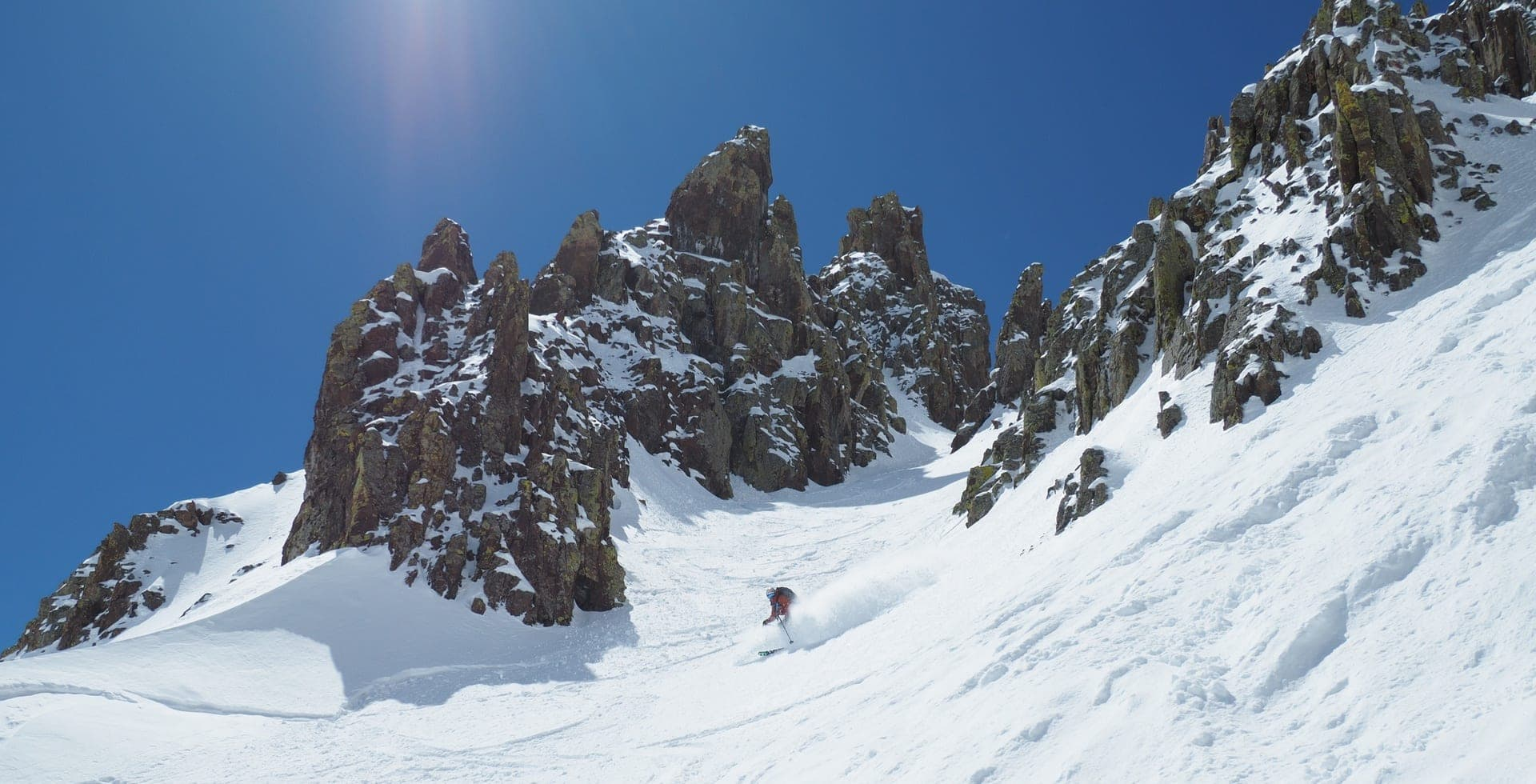 Backcountry skiing in the San Juan Mountains