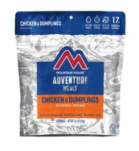 Mountain House Chicken and Dumplings Backpacking Meal
