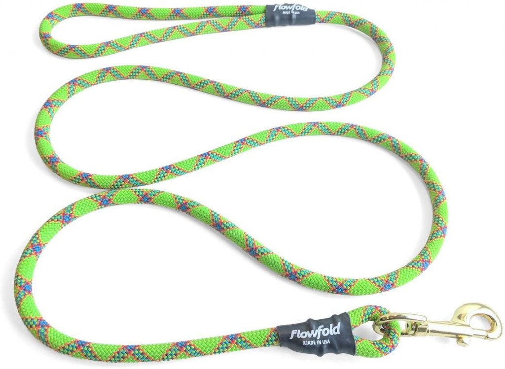 Flowfold Green Dog Leash made in the USA