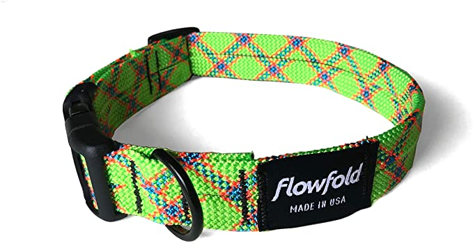 Flowfold Recycled Rope Dog Collar made in the USA