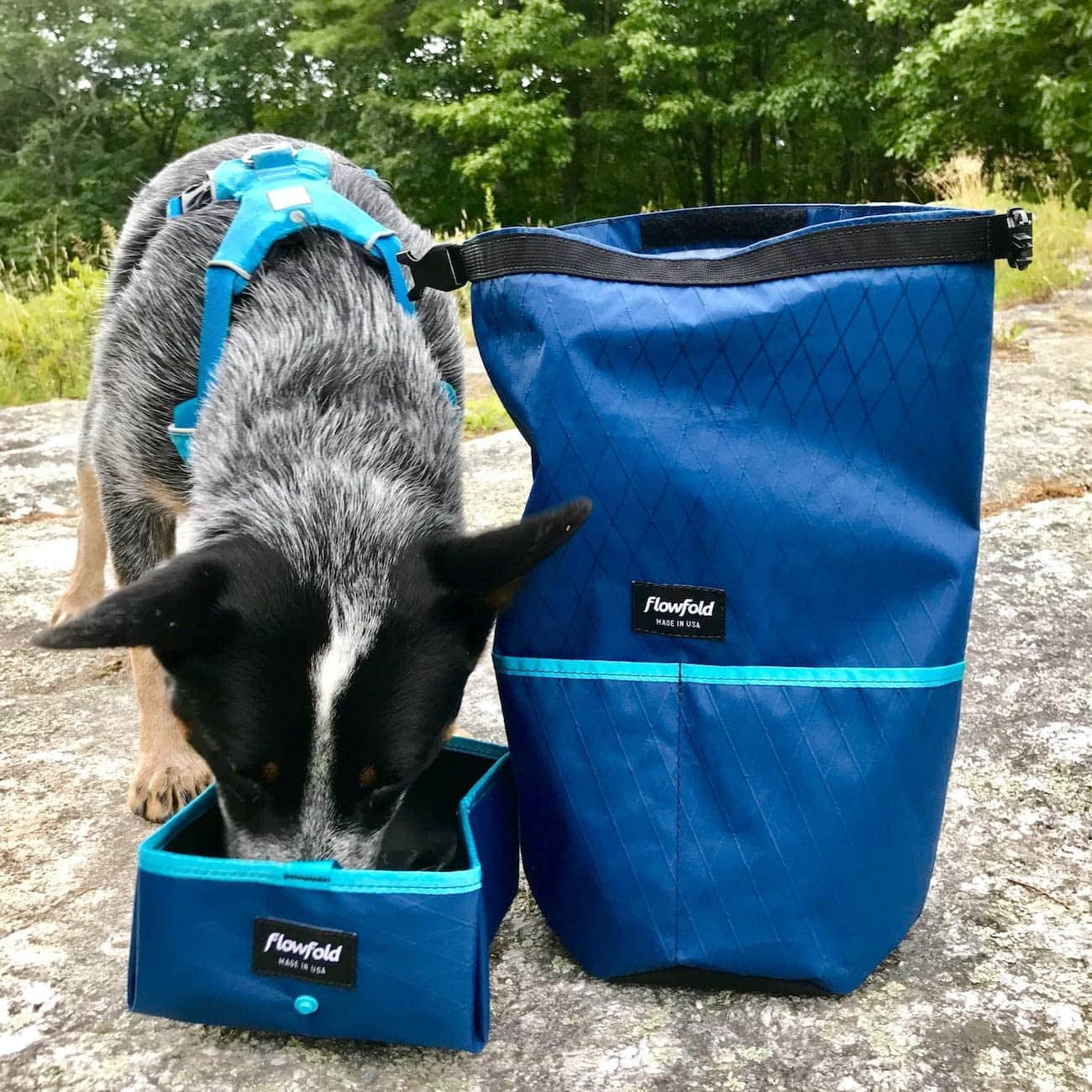 Flowfold Trailmate Dog Food Bag & Travel Bowl Made in Maine, USA