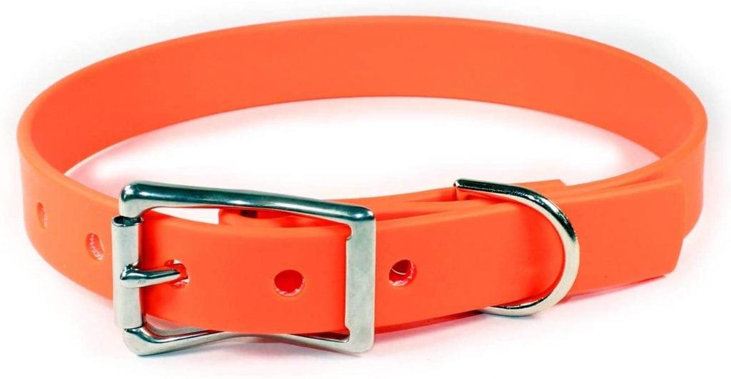 Sleepy Pup Orange Collar Made in the USA