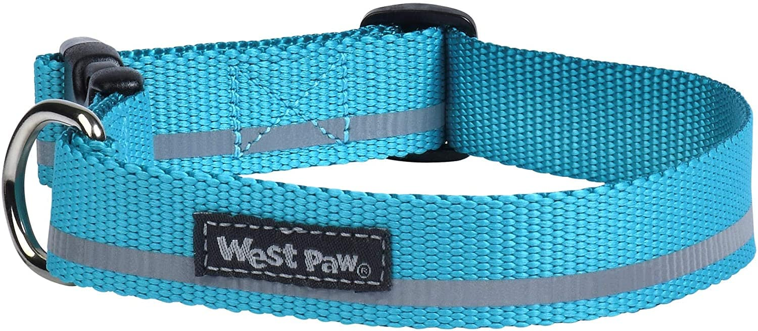 West Paw Reflective Blue Dog Collar Made in the USA