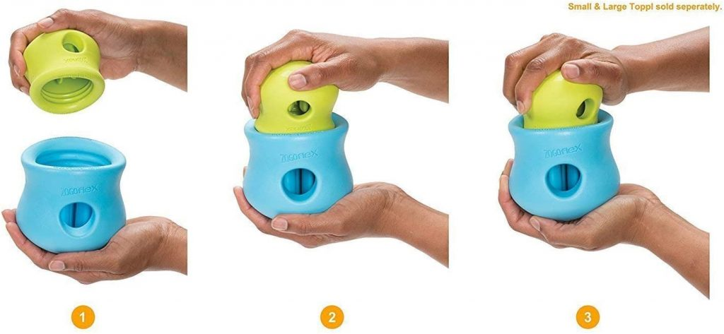 West Paw Zogoflex Toppl Treat Puzzle Dog Toy