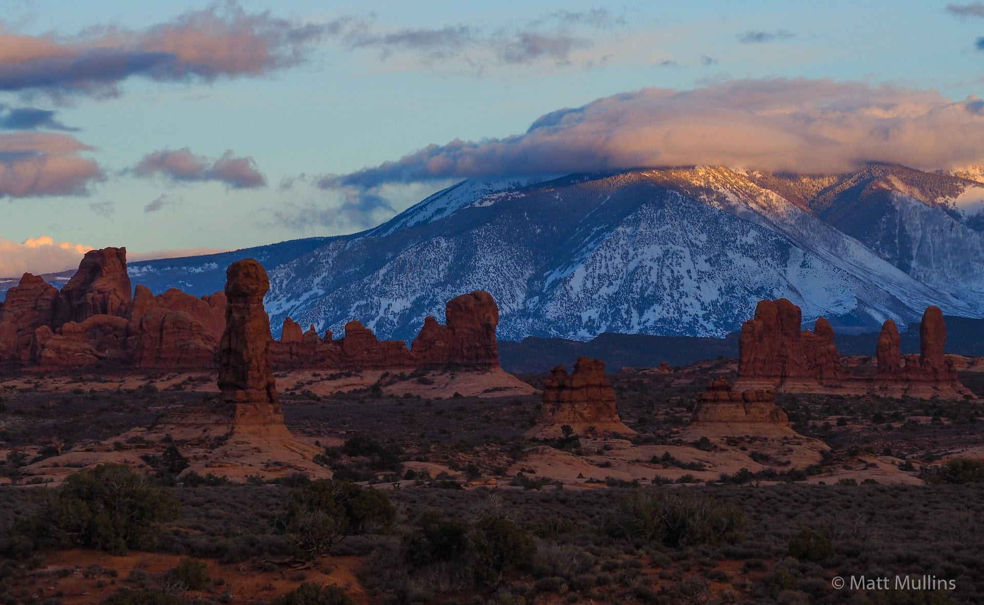 Arches National Park Winter Sunset